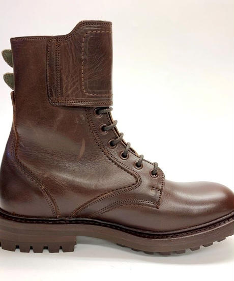 19.56 Rejected Tricker's / Brown / Country Boots with Ankle Strap / Commando W Sole / Size 6