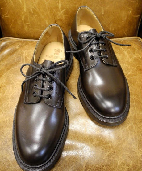 18.66 Rejected Tricker's / Brown / Plain Toe Shoes / Dainite W Sole