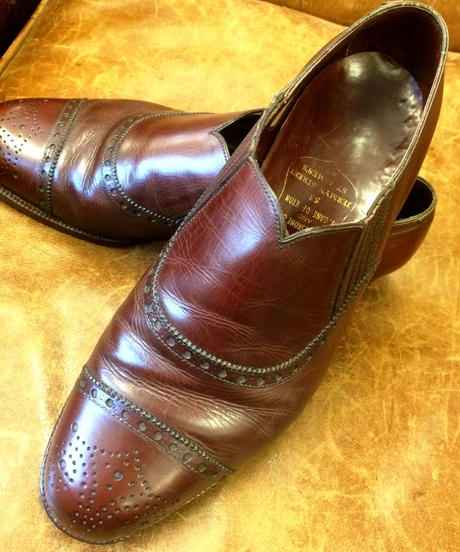 Poulsen Scone and J.Gain of Eton / Bespoke Side Elastic Shoes /  Size 8くらい (Secondhand)