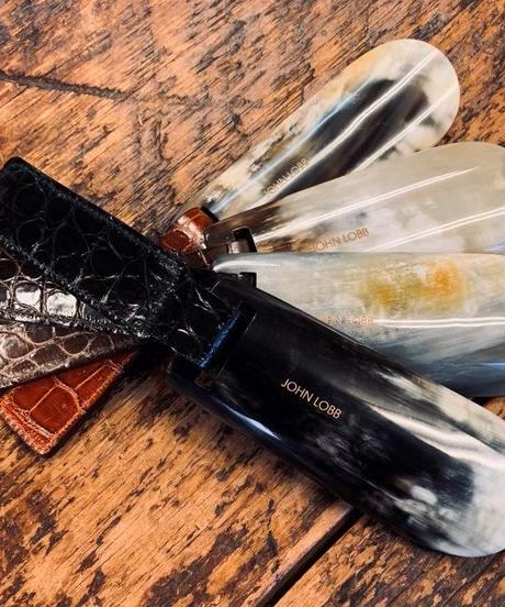 John Lobb London Folding Shoe Horn / Crocodile