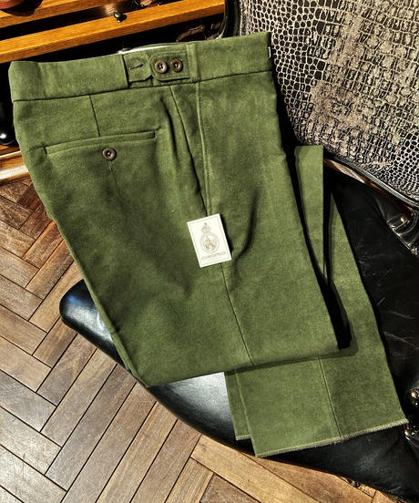 Cordings / Moleskin Trouser / Olive Green
