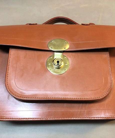 Rutherfords / Satchel With 806 Lock  / Small /Ginger