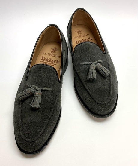 19.20 Rejected Tricker's / Gray Suede / Loafers / Leather  Sole / Size 8H