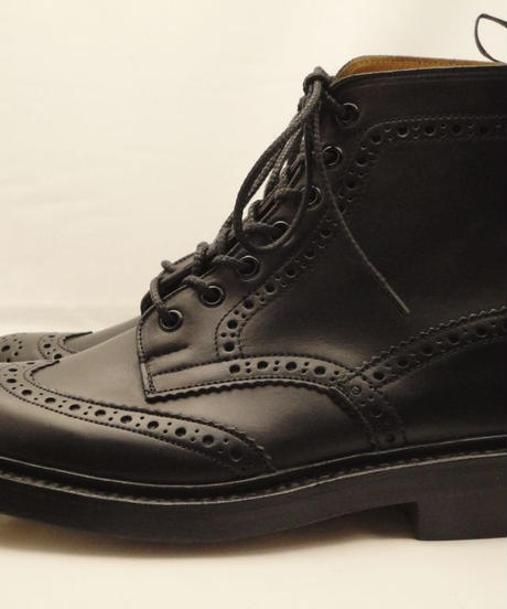 Tricker's × UW / Country Brogue Boots / Black MC