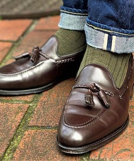 Joseph Cheaney  / HUGH /  Tassel Slip On Shoes / Mocha