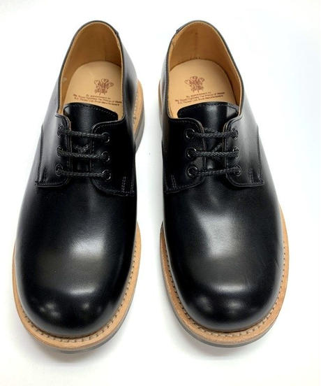 19.41 Rejected Tricker's / Black / Plain Toe Derby / Dainite W Sole / Size 6H