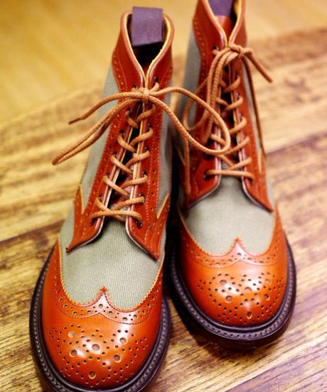 Tricker's × UW Ladies / Country Brogue Boots / Combi