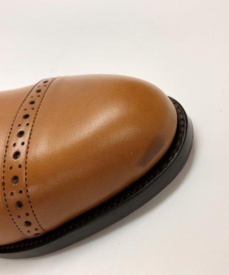 19.10 Rejected Tricker's /  Brown / Semi Brogue Oxford / Leather  Sole / Size 6H