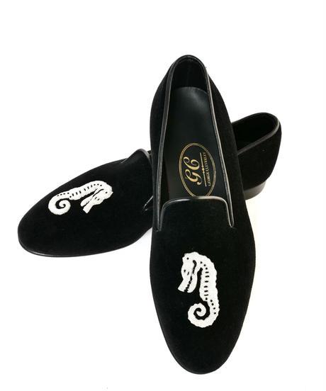 George Cleverley / Velvet Seahorse Slippers