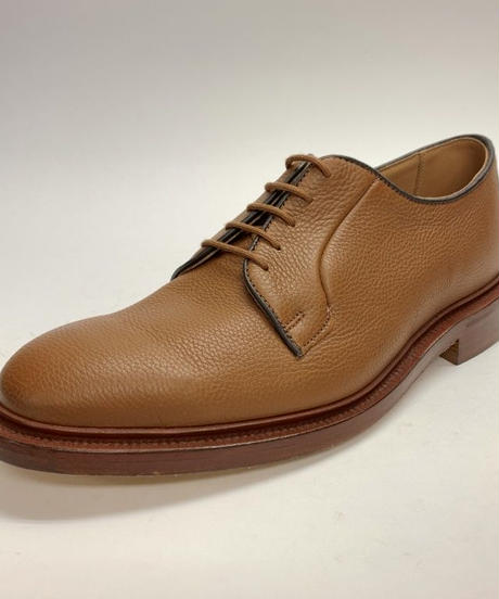 19.38 Rejected Tricker's / Brown Grain / Plain Toe Derby / Leather  Sole / Size 8