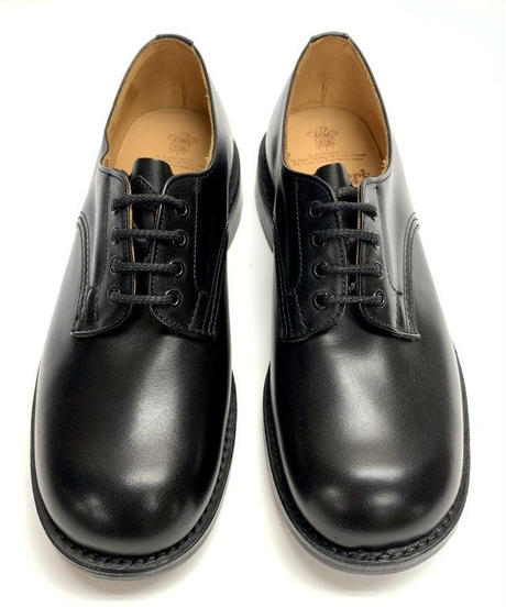 19.42 Rejected Tricker's / Black / Plain Toe Derby / Dainite W Sole / Size 8
