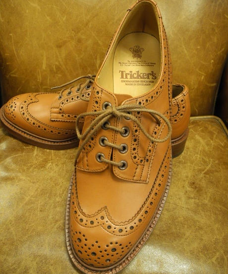 18.25 Rejected Tricker's / C-Shade / Country Brogue Shoes / Leather W Sole / Size 9 , 6fitting
