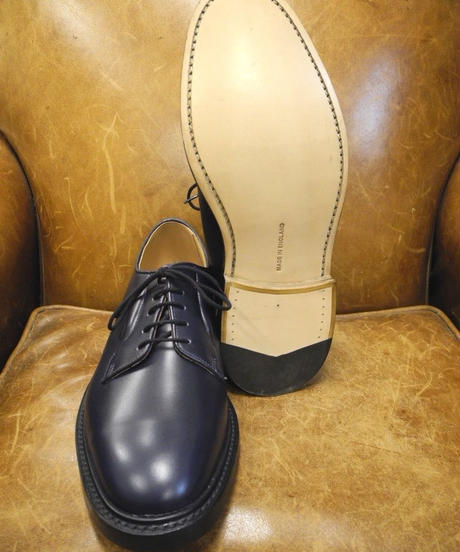 18.69 Rejected Tricker's / Navy / Plain Toe Shoes / Leather W Sole