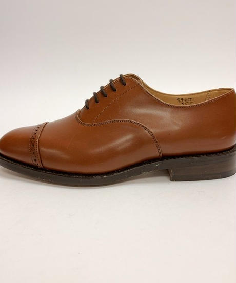 19.09 Rejected Tricker's / Brown / Punched Cap Oxford / Leather  Sole