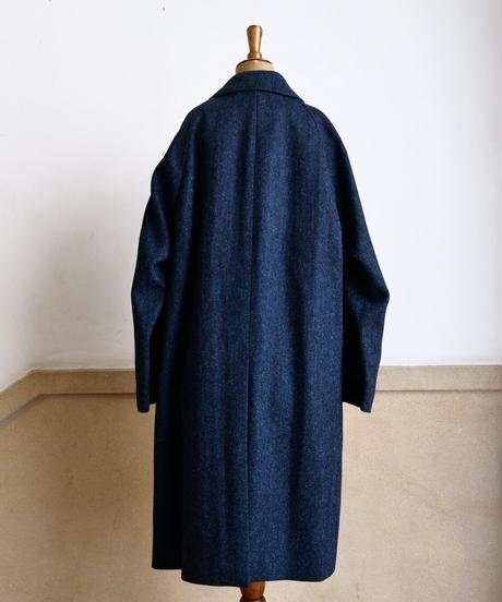 batak  /  Classic  Raglan  Coat / Herringbone / Navy