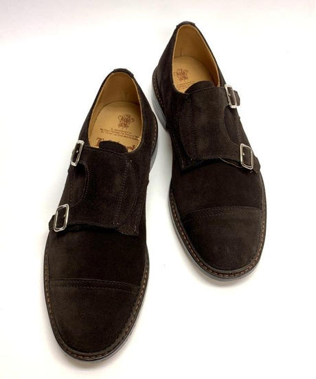 19.14 Rejected Tricker's /  Brown Suede / W Monk Shoes / Leather Sole / Size 7H