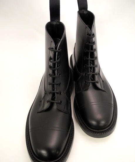 Tricker's × UW / Imitation Cap Country Boots / Black
