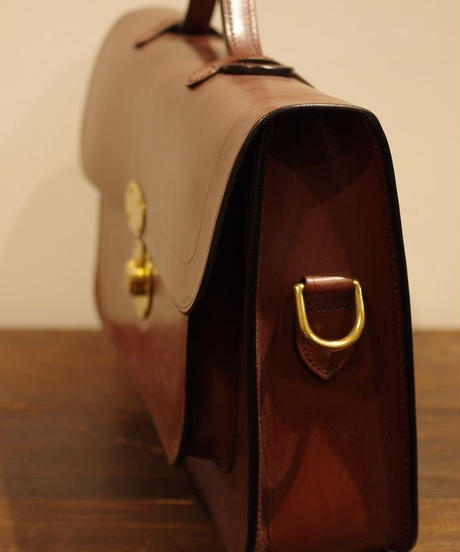 Rutherfords / Satchel With 806 Lock  / Large /Chestnut