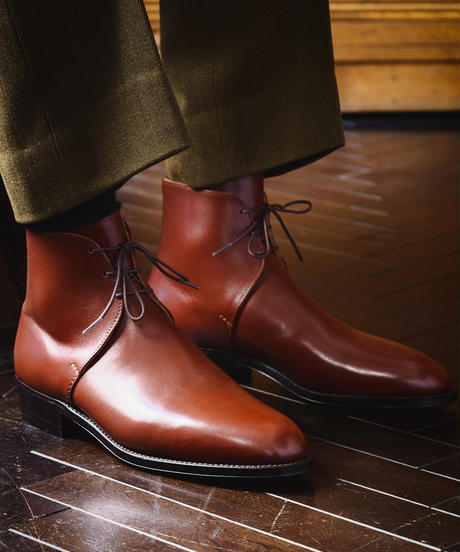 Schnieder Riding Boots × UW / George Boots / Chestnut