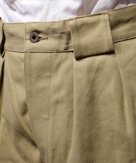 Nigel Cabourn / 2Pleats Wide Pants/Vintege Twill