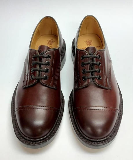 19.32 Rejected Tricker's / Burgundy / Cap Country Shoes / Leather W  Sole / Size 6
