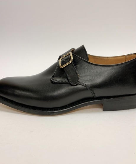 19.06 Rejected Tricker's / Black / Monk Shoes / Leather  Sole / Size 8H