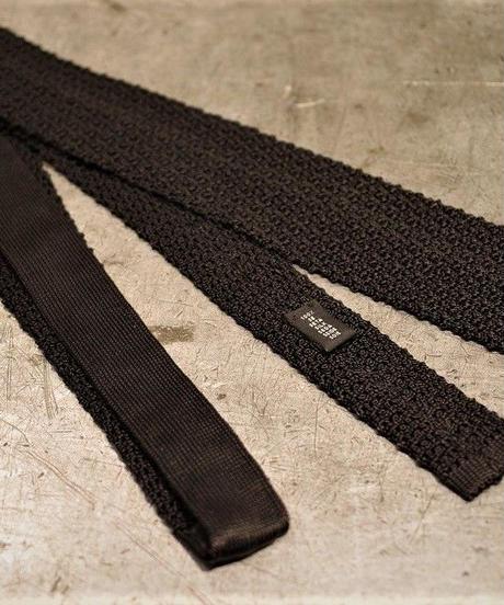 batak House Cut / Silk Knit Tie / Black