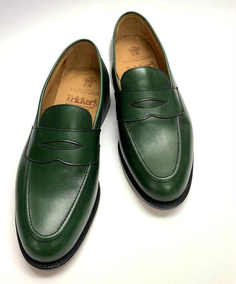 19.24 Rejected Tricker's / Green / Loafers / Leather  Sole / Size 8