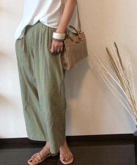 LINEN×COTTON WIDE LONG PANTS
