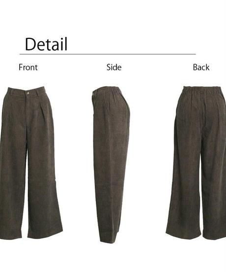 SOFT CORDUROY TACK WIDE PANTS