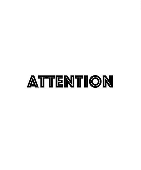 ※ATTENTION※必ずお読みください