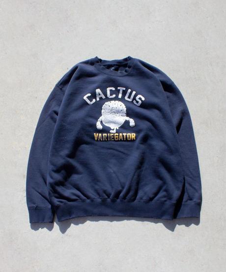 CACTUS DAMEGED SWEATSHIRT【UNISEX】