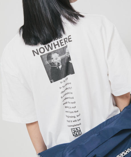 NOWHERE TEE / white