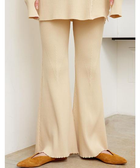 STRETCH RIB PANTS