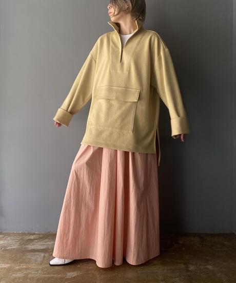tuck long skirt