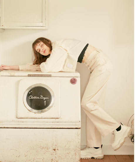 【9.24(Fri)21:00‐RE- STOCK‼】CUT OUT CHAPS PANTS(WHITE)