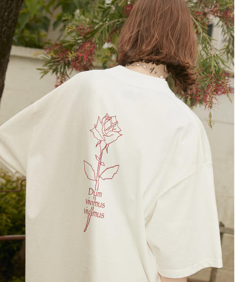 【9.24(Fri)21:00‐RE- STOCK‼】VIVAMUS BACK ROSE T(WHITE)