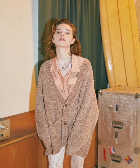 【9.17(fri)-21:00-PRE-ORDER】MALL OVER KNIT CARDIGAN(BROWN)