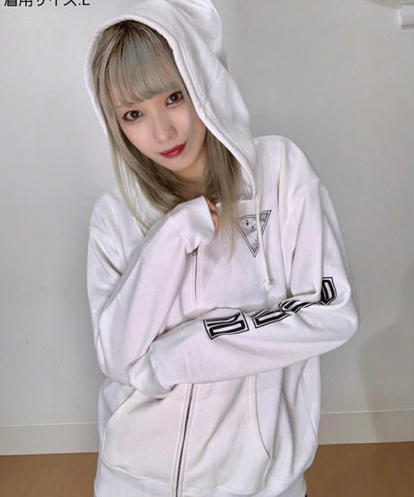 [Night Owl][完全受注生産品!] BY YOUR SIDE zip up hoodie<white>[10月上旬お届け予定]