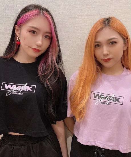 [ 我儘ラキア  ] Girls Short T-shirt  [ Black ]