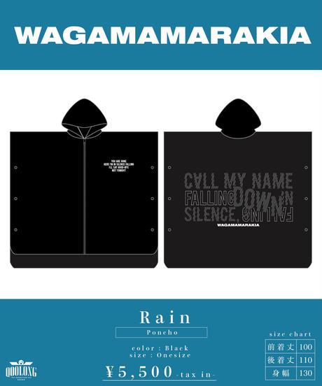 [ 我儘ラキア ]  Rain-Poncho-