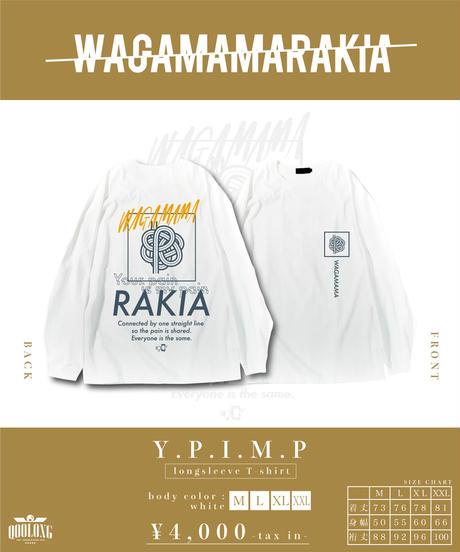 [我儘ラキア] Y.P.I.M.P long sleeve T-shirt<white>