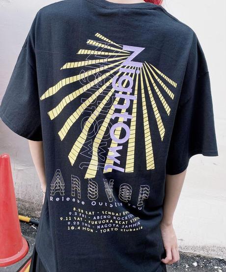 [NightOwl] Answer T-shirt-Black-  [8月末までにお届け予定]