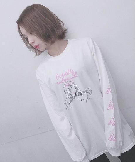 [NightOwl][百城凛音] ぞっこん!💘Longsleeve T-shirts-WHITE- [12/22頃お届け予定]