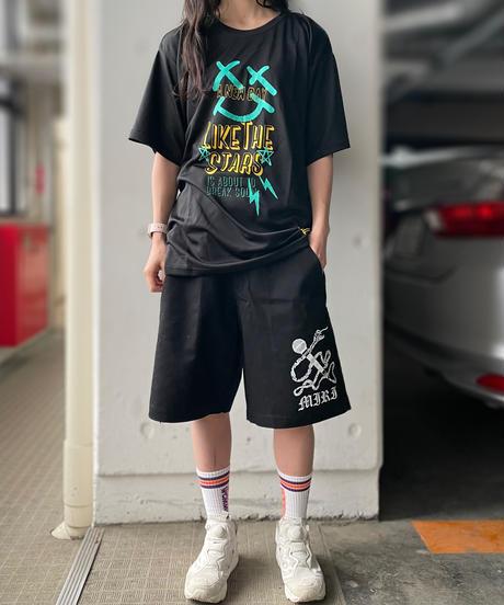 """[ 我儘ラキア ]  Like The Stars """"DRY"""" T-shirt -Black- [6月上旬発送予定]"""
