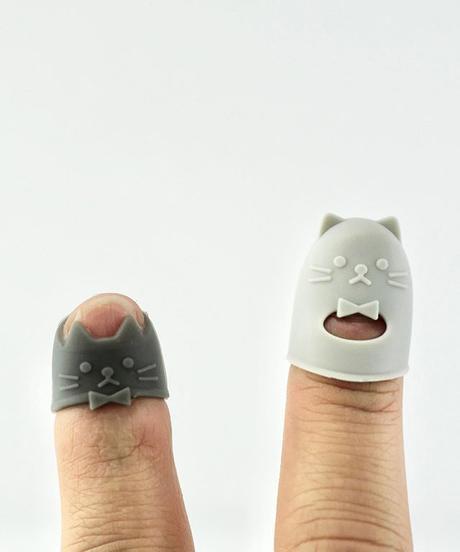 ネコ型 指サック ネコ 2種