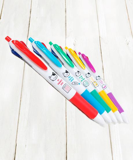 339081【カラーキャット】4色ボールペン5種