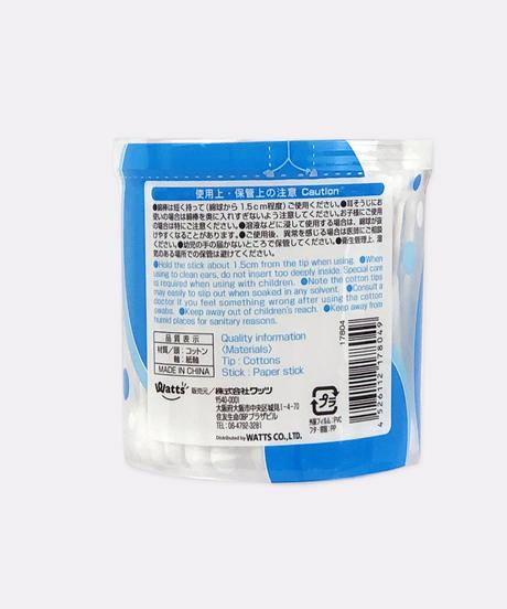 17804【ワッツセレクト】PB.湯上り紙軸綿棒・110本入