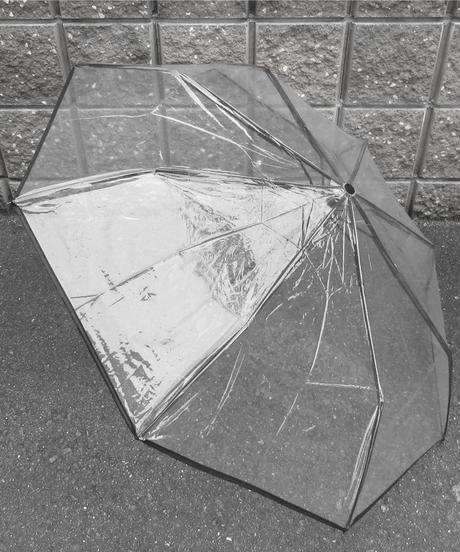 【SNS人気・再販】320064★透明三段折りたたみ傘(税込660円)