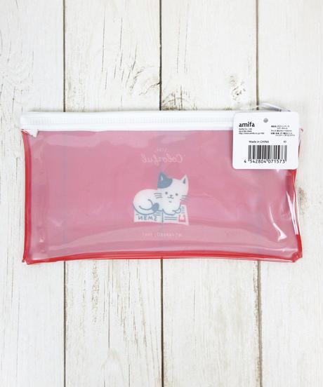 339080【カラーキャット】PVCペンケース 5色